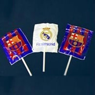 Football Lollipops with Personalised Wrappers