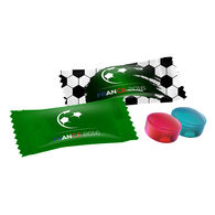 Promotional football mini candy pack