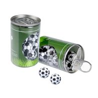 Promotional slim can of footballs