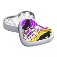 Express Heart Shaped Mint Tin