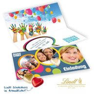 Lindt Heart Greetings Card