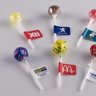 Personalised Lollipop with flag