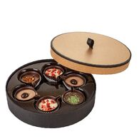 Luxury Round Christmas Chocolate Pralines Box