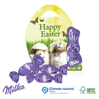 Milka Personalised Easter Mini Egg Shaped Carton