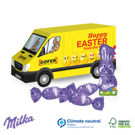 Milka personalised Easter Van