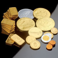 Moulded Belgian Chocolate Coins