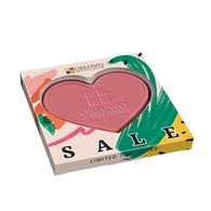Pink chocolate heart in personalised gift box