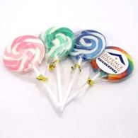Promotional Multi Coloured Swirly Lollipops