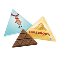 Personalised Christmas Triangular Toblerone box