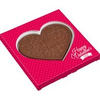 Valentine 2d heart shaped chocolate box