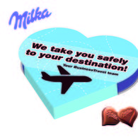 Promotional Valentines Milka Heart Chocolate Box