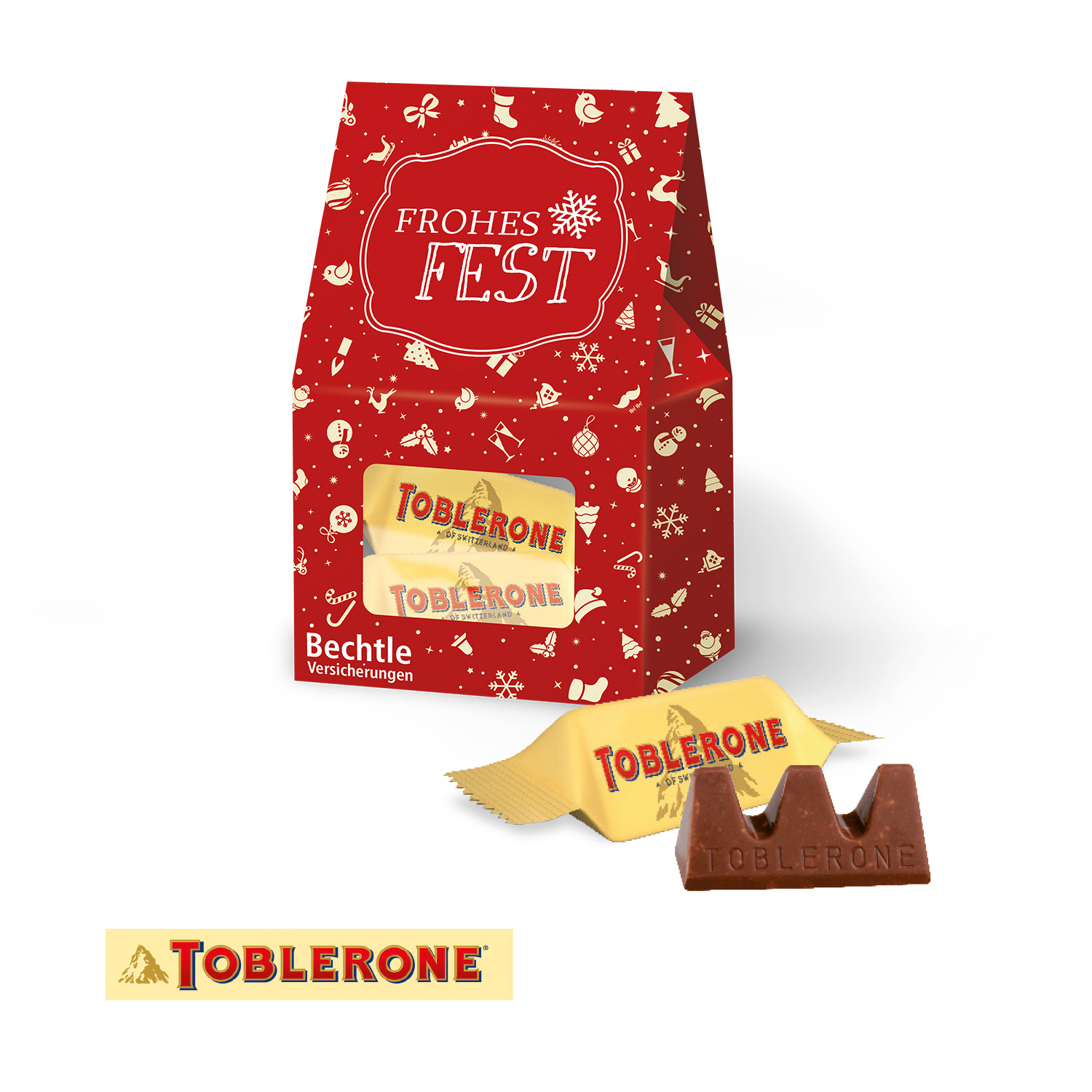 Toblerone Personalised Mini Christmas Pouch Milka And
